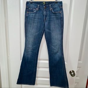 7 FAM Flare Jean Pink Stitching